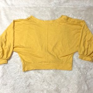 Free People Tops - Free People We the Free Yellow Deep V Top
